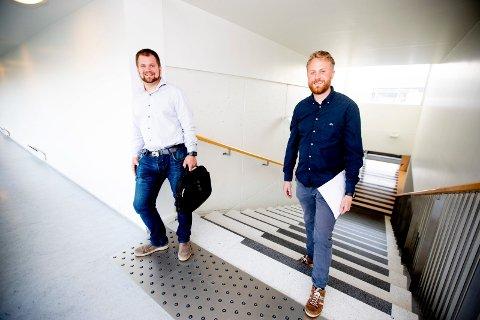 HVEM BLIR ORDFØRER?: Lars Halvor Stokstad Oserud (Sp) eller Eyvind Schumacher (Ap) kan bli den nye ordføreren i Ullensaker. De har sammen med SV, Venstre, MDG og Rødt kommet til enighet om en ny politisk plattform.