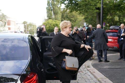 Kulturminister Trine Skei Grande (V) ankommer Uranienborg kirke