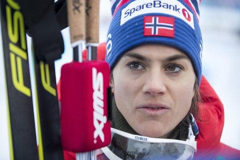 TAPTE SPURTEN: Hedi Weng tapte spurten mot Neprjajeva og Flugstad Østberg. Hun havnet dermed utenfor pallen på jaktstarten.