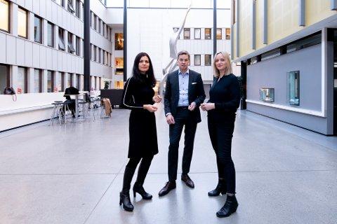 Nina Solli, NHO, Nils Morten Huseby, IFE,  Gunn Helen Hagen Norges Varemesse, vil helst at Campus Kjeller skal utvides med flere studietilbud, ikke legges ned.