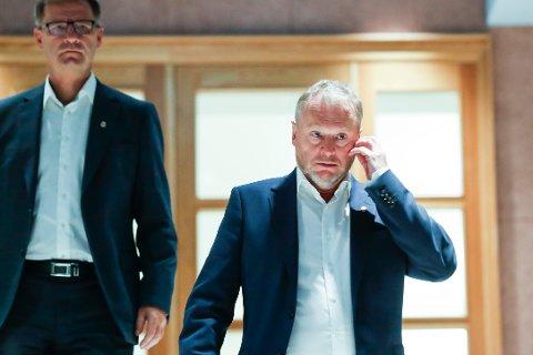 Byrådsleder i Oslo kommune Raymond Johansen orienterte mandag om koronasituasjonen i Oslo. Foto: