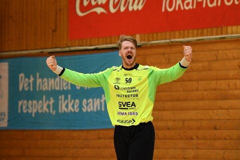 STOR: Fjellhammers målvakt, Alexander Lein Martinsen spilte en fantastisk kamp mot Haslum søndag kveld.