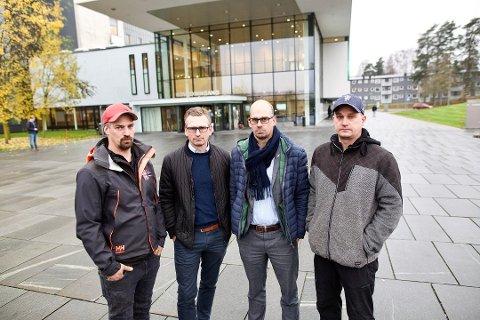 FIKK ØNSKET OPPFYLT: Brødrene Marius (f.v.), Robert, Kenneth og Tommy Norbeck fikk alle besøkt sin far før han døde på Ahus fredag kveld.