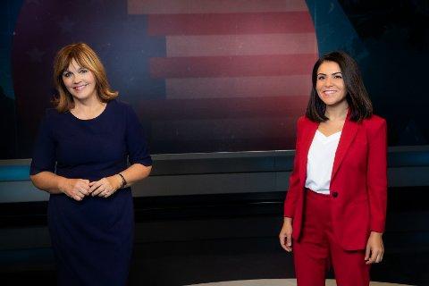 Ingvild Bryn og Rima Iraki er faste makkere i Dagsrevyen. Sammen med et stort NRK-team skal de lede presidentvalg-sendingene på NRK