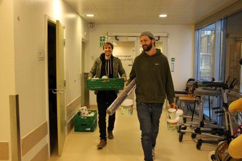 (Fra venstre) James Finucane og Frode Skaren gleder seg til å komme i gang med prosjektet.