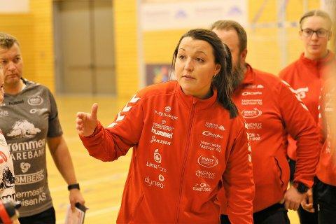 SKUFFET: Trener Ane Mällberg måtte se jentene sine tape den viktige bunnkampen mot Oppsal søndag.