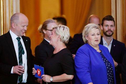 MEST FREM: Frp-leder Siv Jensen har størst grunn til å smile i denne ferske målingen.  Foto: Terje Bendiksby (NTB scanpix)