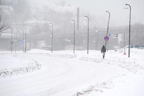SNØVÆR: Tirsdag ser det ut til at snøen kommer tilbake til Romerike.
