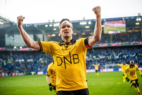 Legendens største dag: Frode Kippe har nettopp satt inn 3-1-målet i cupfinalen mot Sarpsborg 08. Kampen karakteriserer hans som høydepunktet i hans lange LSK-karriere.
