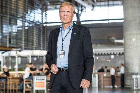 Kutter: Avinorsjef Dag Falck-Petersen på Gardermoen da det var normal drift.