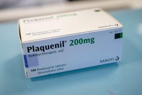 Et av legemidlene som norsk helsevesen skal teste mot koronaviruset er Plaquenil. Det er en malariamedisin som inneholder hydroxyklorokin. Foto: Heiko Junge / NTB scanpix Foto: (NTB scanpix)
