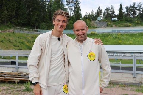 """Lars og Odd-Bjørn Hjelmeset er blant deltakerne i """"Familiens ære"""", som sendes på NRK til høsten."""