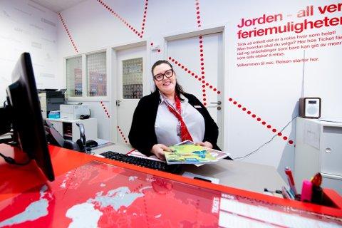 SELGERLEDER: Ida Oppegaard Gravem hos Ticket Feriereiser på Strømmen. Dette er et arkivbilde.