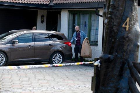 BESLAGLAGT: Politiet har tatt beslag i Tom Hagens hus i Sloraveien. Forrige uke fikk Hagen beskjed om at han ikke ville kunne flytte tilbake på minst tre måneder.