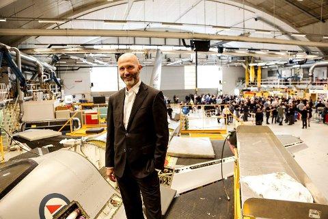 STØTTE: Adm.dir. Atle Wøllo i Kongsberg Gruppens avdeling KAMS bekreftet støtte til Forsvarsmateriell ved et eventuelt salg av F-16-fly. KAMS kan få et behov på 50 til 100 nye ansatte.