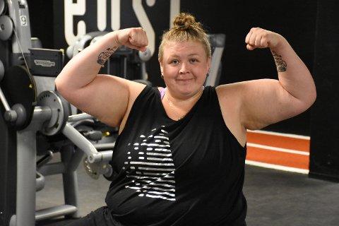 BLIR STERKERE: Synøve Pedersen merker allerede at hun er sterkere i kroppen.