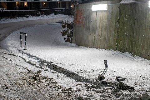 Slik så det ut i undergangen der uhellet skjedde mandag kveld.