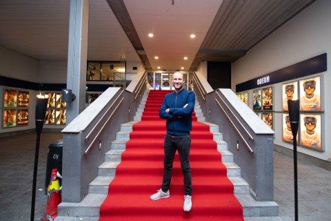 RØD LØPER: Aksel Lund Svindal var denne uka på forhåndsvisning av dokumentarfilmen om ham selv.