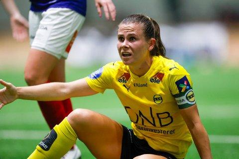 Usikker framtid: Emilie Haavi er fortsatt i tenkeboksen om hun skal fortsette i LSK Kvinner. Kapteinen har vært en svært viktig spiller for laget denne sesongen. Onsdag følte hun marginene igjen var mot dem. Det mener hun ikke er tilfeldig.