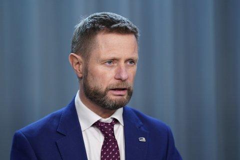 PRESISERER: Helseminister Bent Høie (H) presiserer om koronatiltakene.