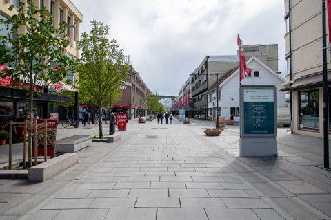 Sånn så det ut i Lillestrøm sentrum 17. mai 2020
