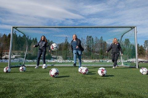 FOTBALL: Aldri før har Lørenskog IF hatt en så stor andel kvinner i styret. Fra venstre: Kristin Bali, Ingvild Heiene og Marthe Eidahl, er klare for å styrke klubben videre i årene som kommer.