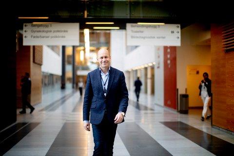 GOD HJELP FRA STATEN: Kompensasjonen fra staten for å dekke merkostnader under pandemien har vært avgjørende for det gode økonomiske resultatet i 2020, slår Ahus-direktør Øystein Mæland fast.