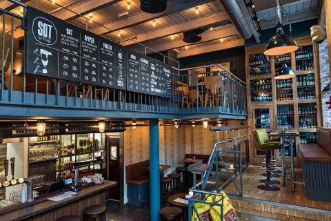 BAR & BURGER: SOT startet som en enkel restaurant på Solsiden i Trondheim, her fra restauranten på Solsiden.