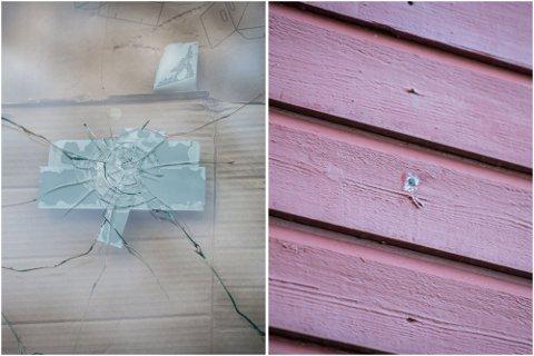 SKUDD: Mannen i 40-årene står blant annet tiltalt for å ha avfyrt skudd mot to boliger.