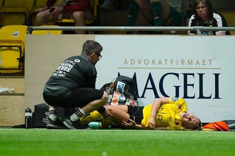 Fortsatt ute: Camilla Linberg blir ikke med LSK Kvinner til toppkampen mot Rosenborg. Nøkkelspilleren sliter fortsatt med en kneskade. Bildet er tatt tidligere i sesongen og har ingenting med den aktuelle skaden å gjøre.