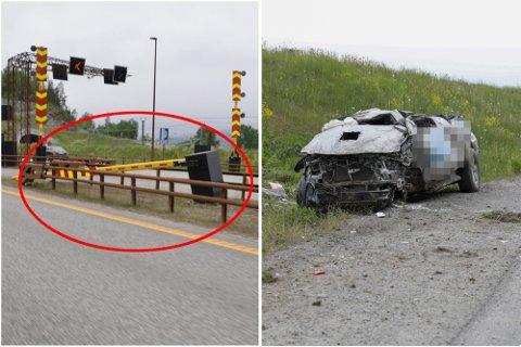 SPØKELSESBILIST: Mannen i 20-årene knuste bommen før han fortsatte oppover E6 i motsatt kjøreretning. Dette var 21. gang i løpet av de to siste årene at det er blitt rapportert om lignende kjøring på Romerike.