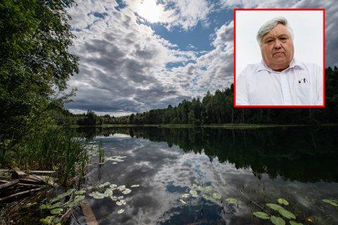 DRUKNINGSULYKKE: Harald Espelund ble vitne til en drukningsulykke ved Transjøen i Ullensaker. Da reagerte den tidligere Ullensaker-ordføreren lynraskt.