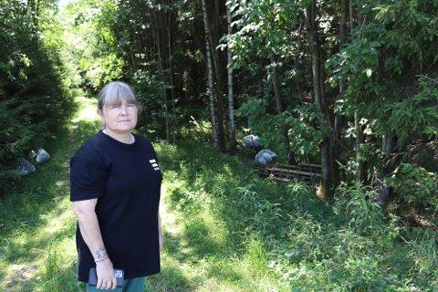 LEI: Anne Brita Tangen (56) blir forbanna over å se hvordan folk har tatt seg friheter.