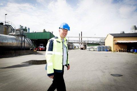 REKORDÅR: Administrerende direktør i Dynea, Tarje Braaten, er godt fornøyd med veksten i limbedriften.