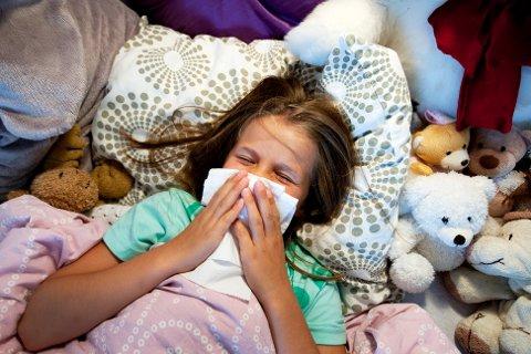 MER SYKDOM: Det forventes mer forkjølelse og influensa denne høsten sammenlignet med i fjor. Illustrasjonsfoto: Gorm Kallestad / NTB