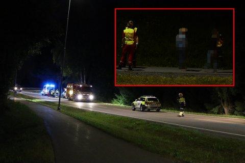 STAKK AV: Politiet tok i bruk hundepatrulje for å finne fram til sjåføren av mc-en som var innblandet i ulykken fredag kveld.