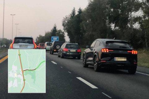 30 KM/T: På E6 mellom Jessheim og Grankrysset går det enkelte steder kun i 30 km/t i 110-sonen.