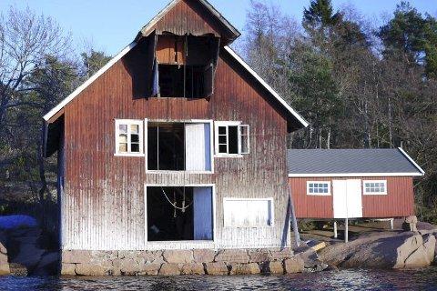Reddes: Denne sjøbua i Holmsbu blir som ny med midler fra Kulturminnefondet. Foto: Kulturminnefondet