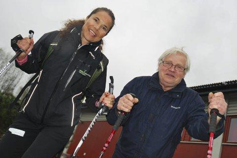 KLAR TIL TRENING: To ganger i uka trener Thoe Wulff Hansen. Tirsdagen er det Nina Mikkelsen fra Frisklivssentralen som har ansvaret.