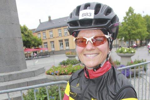 ENERGISK: Pernille Bjørnstad Solheim er både energisk og utholdende. Det beviste den spreke Hyggen-damen da hun fullførte styrkeprøven på nytt. foto: svein halvor moe