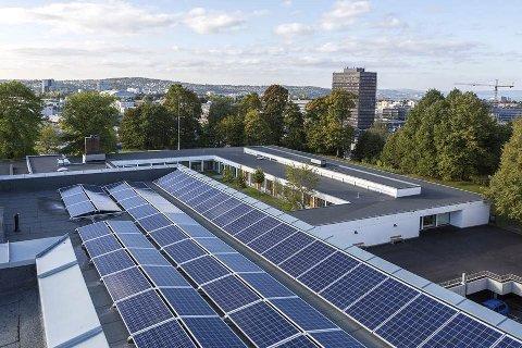 SOL: Det planlegges både solfangere og solceller på Bråset bo- og omsorgssenter, med prøvedrift allerede til høsten.