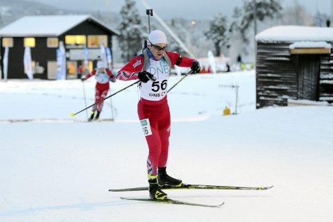 MEDALJE: Martin Lindland gikk bra og bidro til at det ble Buskerud-medalje på åpningsdistansen da norgesmesterskapet i skiskyting ble innledet i Mo i Rana.