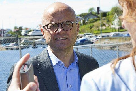 POSITIV: Vidar Helgesen (H) er positiv til planene om å lage biodrivstoff på Tofte.