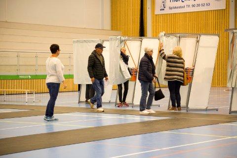 FORHÅNDSSTEMMER: Rekordmange har valgt å benytte seg av forhåndsstemming ved årets Stortingsvalg. Illustrasjon