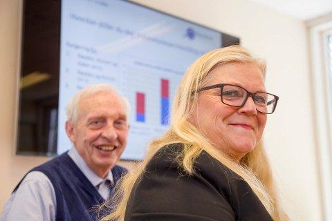 KLAR FOR FROKOST: Næringsrådslederne Hilde Thorud og Arne Hjorth er vertskap for frokostmøte i Røyken Næringshage torsdag når nytt sykehus i Drammen står på dagsorden.