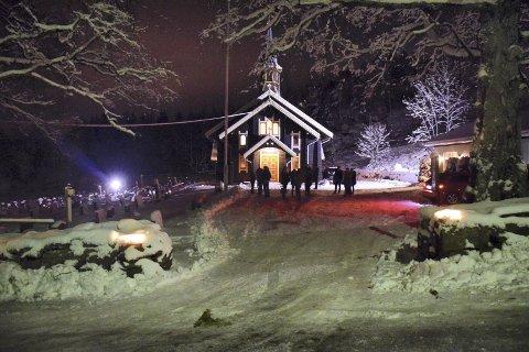 STEMNING: Den nest siste julen i Røyken og Hurum kommuner, men det gjør ingenting.