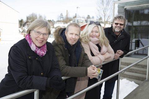 PLANEN ER KLAR: Grethe Utvei, Peter Albers, Nina Sørsdal og Steen-Vidar Larsen er majoriteten i årets Kulturkomité 2018 som står for gjennomføringen av Kulturdager i Røyken.