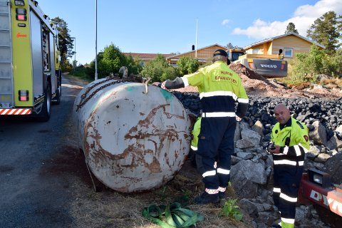 Jarle Haugsrud i Hurum brannvesen full kontroll på situasjonen.