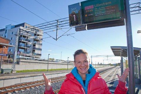 MERE TOG: Hanne Lisa Matt (MDG) vil at nye Asker satser enda mere på tog og miljøvennlig ferger på Oslofjorden.