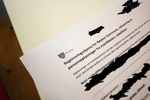 PERSONNUMMER: Dette er et av skjemaene der fullt navn og personnummer kom fra. RHA har sladdet personsensitive opplysninger.